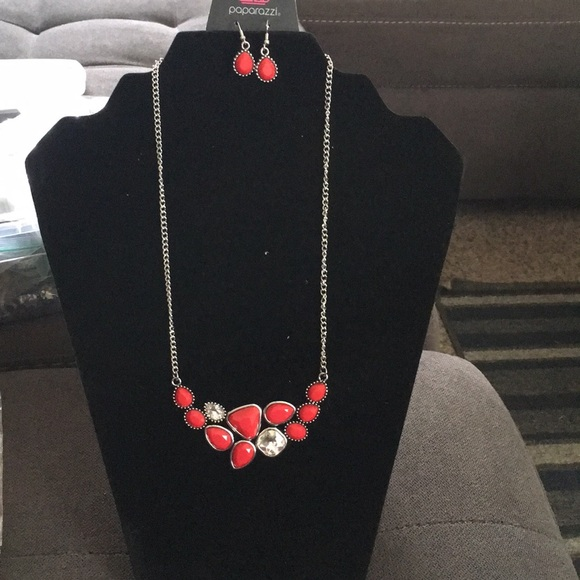 Breathtaking Brilliance red necklace